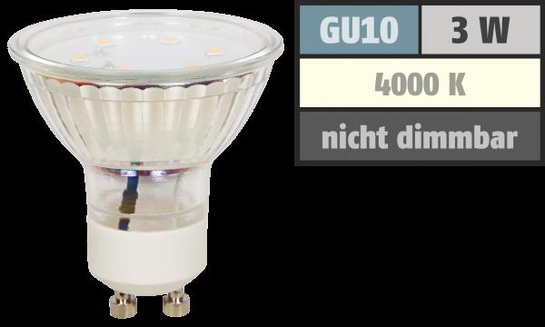 LED-Strahler McShine ''ET10'', GU10, 3W, 250 lm, neutralweiß