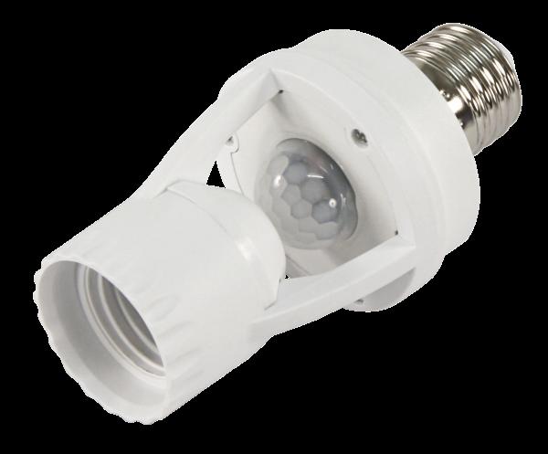 Bewegungsmelder mit E27 Fassung McShine ''LX-451B'', 360°, 230V / 60W, weiß