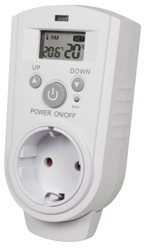 Steckdosen-Thermostat McPower ''TCU-530'', 5-30 °C, max. 3680W, 230V, Display