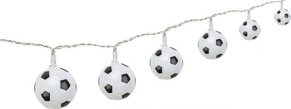 2 Stück LED Fußball Lichterkette 10 Lampions WM EM Fußball inkl. Netzstecker