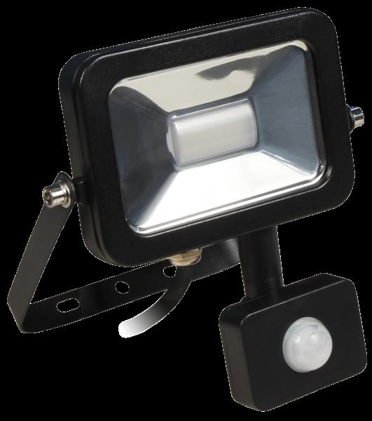 LED-Außenstrahler McShine ''Slim'', 10W, 900 lm, Bewegungsmelder, IP44, neutralweiß