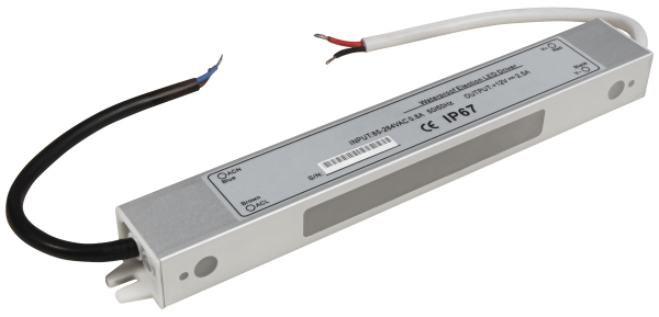 LED-Trafo McShine, elektronisch, IP67, 1-30W, Ein 85~264V, Aus 12V, wasserfest