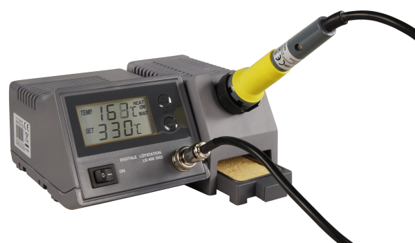 Digitale Löštstation McPower ''LS-450 digi'', 230V / 50 Hz, 48W-Lšötkolben, grau