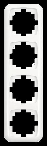Abdeckrahmen ''AMBIENT'', Unterputz, 4-fach, 296x80x11 mm, polarweiß