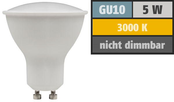 LED-Strahler McShine ''PV-50'' GU10, 5W, 400lm, 110°, 3000K, warmweiß