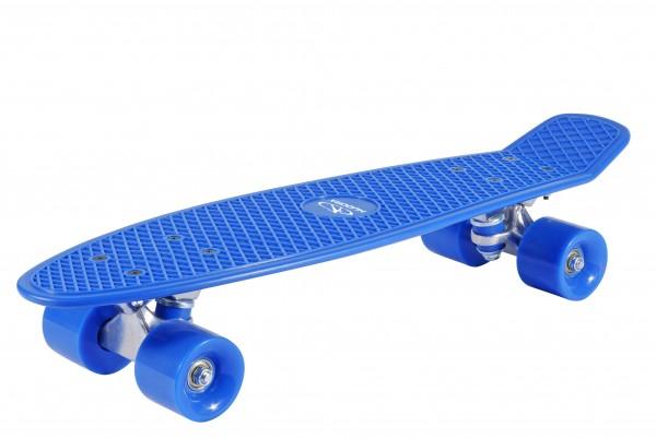 Hudora Retro Skateboard 57 x 15 cm (Rucksackfreundlich) blau