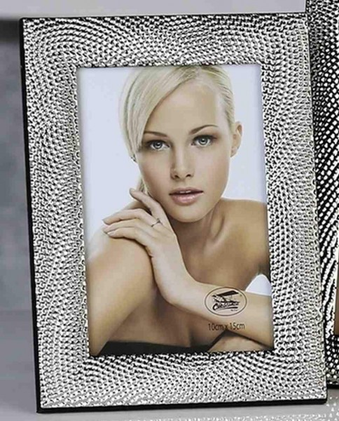 Moderner Fotorahmen Bilderrahmen aus Aluminium Pearl mit 3D Oberfläche 10x15 cm