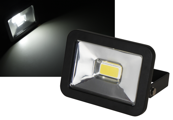 LED-Außenstrahler McShine ''Slim'' 10W, IP44, 750 lm, 4000K, neutralweiß