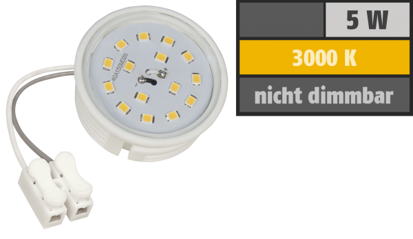 LED-Modul McShine, 5W, 400 Lumen, 230V, 50x23mm, warmweiß, 3000K