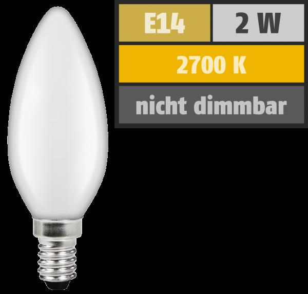 LED Filament Kerzenlampe McShine ''Filed'', E14, 4W, 340 lm, warmweiß, matt
