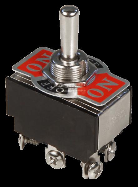 Kippschalter McPower, 250V/10A, 6-polig, 3 Stellungen: EIN / AUS / EIN
