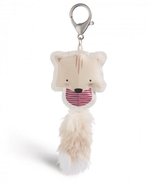 Taschenanhänger Guardian Animals Katze beige aus Kunstleder