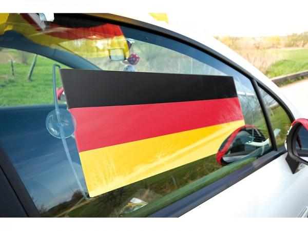 """Fahne: Rollbanner """"Deutschland"""" 66 cm mit Saugnäpfen z.B. fürs Auto"""
