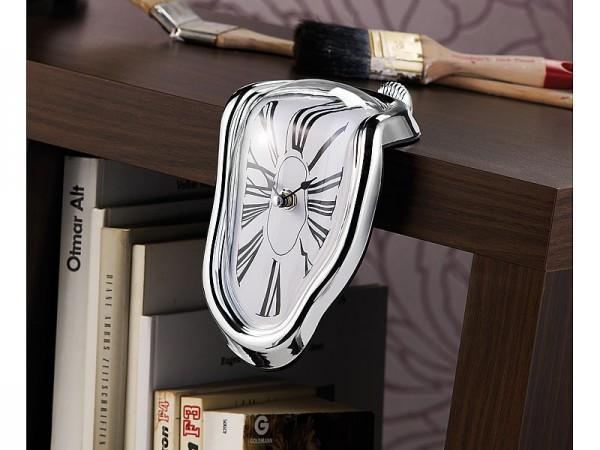 Originelle Regal-Uhr mit kunstvollem Surrealismus-Design
