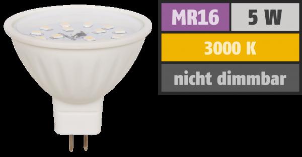 LED-Strahler McShine ''ET50'', MR16, 5W, 400 lm, warmweiß
