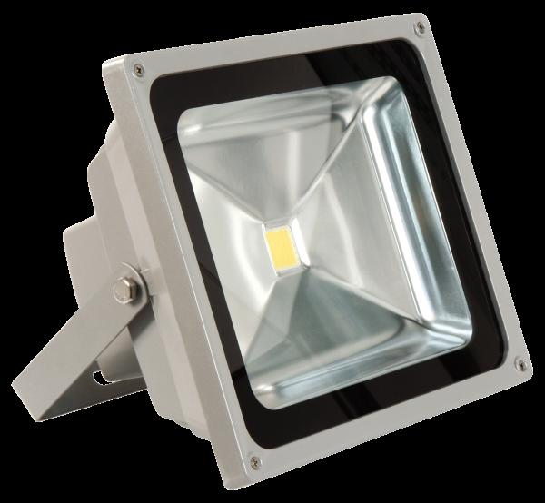 LED-Außenstrahler McShine, 50W, IP44, 4.500 lm, 3000K, warmweiß