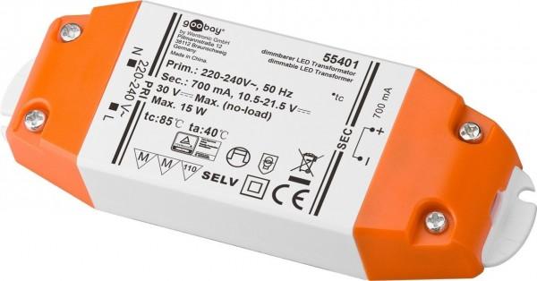 LED Konstantstrom-Trafo /15 W Dimmbar, 700 mA CC für LEDs bis 15 W Gesamtlast