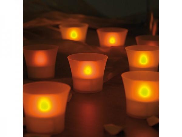 LED-Teelichte inklusive eleganten Windgläsern, 8er-Set