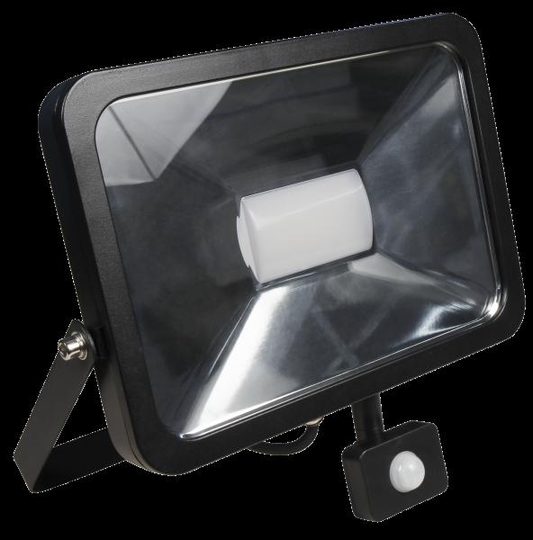 LED-Außenstrahler McShine ''Slim'', 50W, 3.750 lm, Bewegungsmelder, IP44, neutralweiß