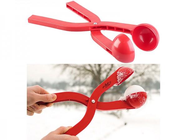 Profi-Schneeballzange für Schneebälle mit Ø 7 cm, rot