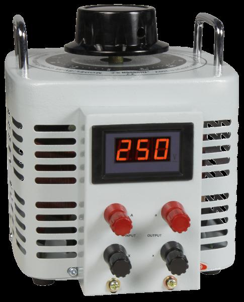 Ringkern-Stelltrafo McPower ''V-8000 LED'', 0-250 V, 8 A, 2.000 W, NICHT galvanisch getrennt