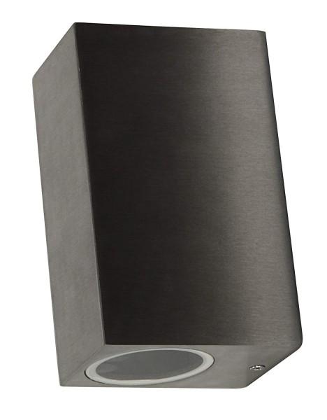 Wandleuchte McShine ''Square'', Aluminium, IP44, 2-flammig