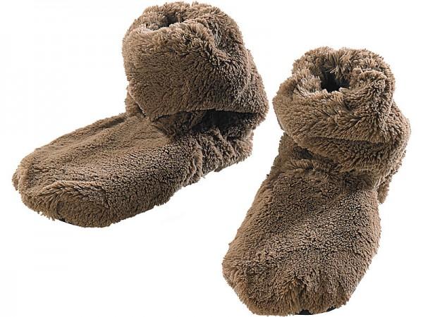 Socken Mikrowelle: Aufwärmbare Flausch-Stiefel mit Leinsamen-Füllung, Größe 42 - 44