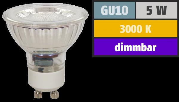 LED-Strahler McShine ''MCOB'' GU10, 5W, 350 lm, warmweiß, dimmbar