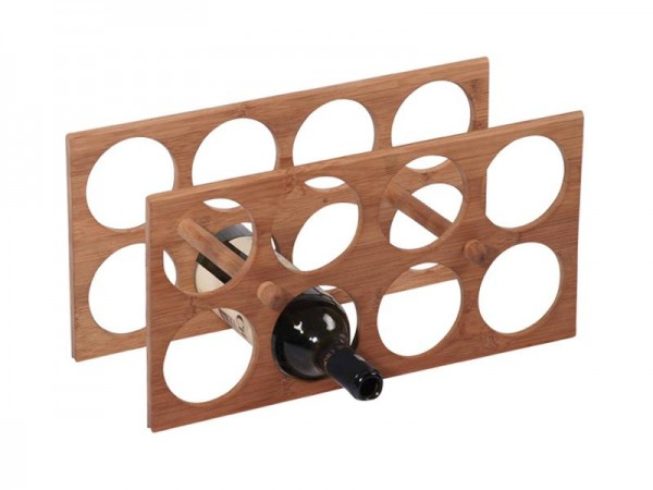 MK Bamboo MILANO - Weinflaschenhalter für 8 Flaschen