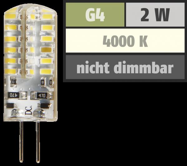 LED-Stiftsockellampe McShine ''Silicia'', G4, 2W, 160 lm, weiß