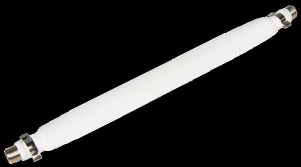 FensterdurchfŸührung füŸr Sat-Kabel mit 2 F-AnschlŸssen, flexibel, 20cm, weiß