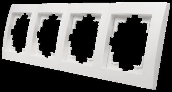 Rahmen McPower ''Flair'', 4-fach, weiß