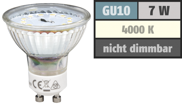 LED-Strahler McShine ''ET70'', GU10, 7W, 470 lm, neutralweiß