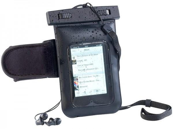 Wasserdichte Smartphone-Tasche mit Kopfhörer-Eingang bis 3,5 Zoll