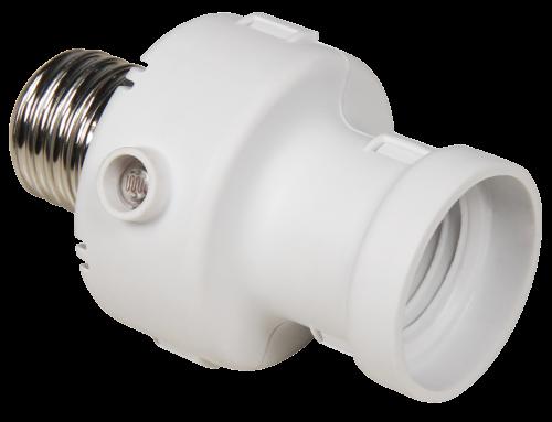 Dämmerungsschalter mit E27 Fassung McShine ''LX-472'', 230V / 100W, weiß