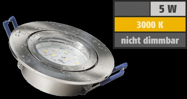 LED-Einbauleuchte McShine ''Flatty'' Ø83mm, 5W, 400lm, warmweiß, IP44