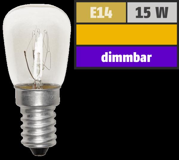 KŸühlschrank-Leuchtmittel McShine, E14, 230V, 15W, klar, 70 lm