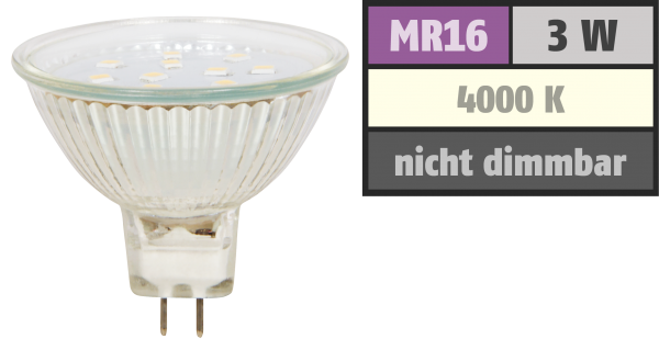 LED-Strahler McShine ''ET10'', MR16, 3W, 250 lm, weiß