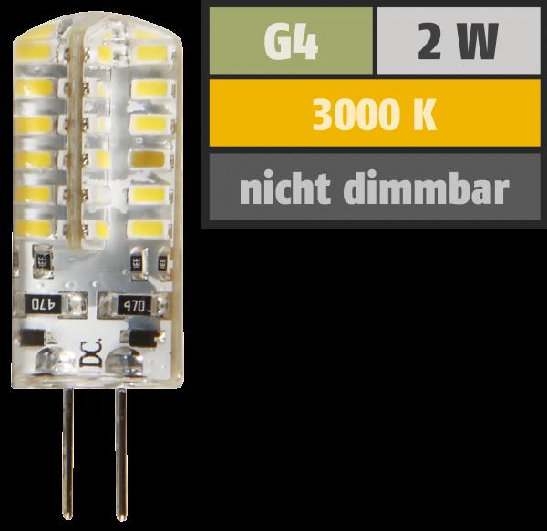 LED-Stiftsockellampe McShine ''Silicia'', G4, 2W, 160 lm, warmweiß