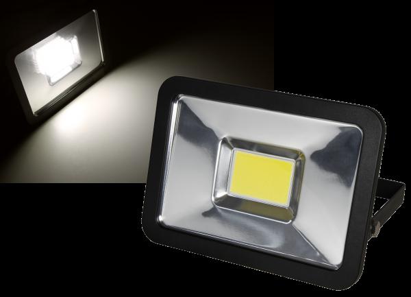 LED-Außenstrahler McShine ''Slim'' 30W, IP44, 2.250 lm, 3000K, warmweiß