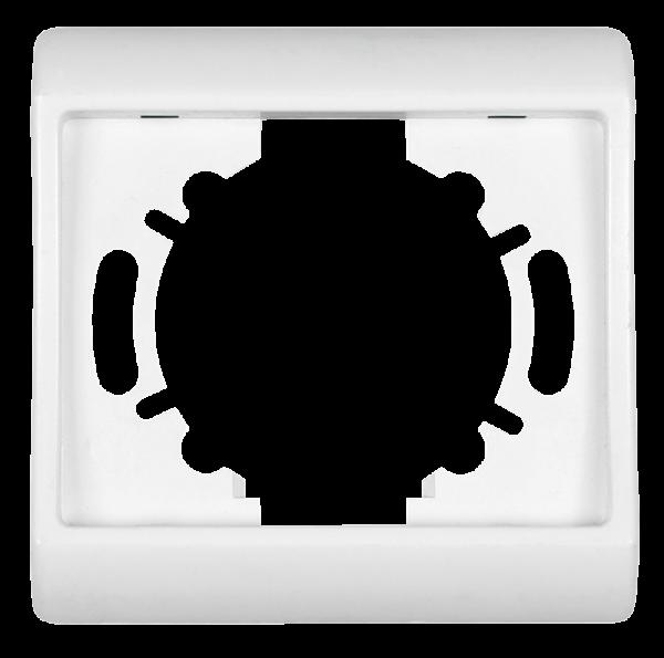Abdeckrahmen ''ELEGANCE'', Unterputz, 1-fach, 80x80 mm, weiß