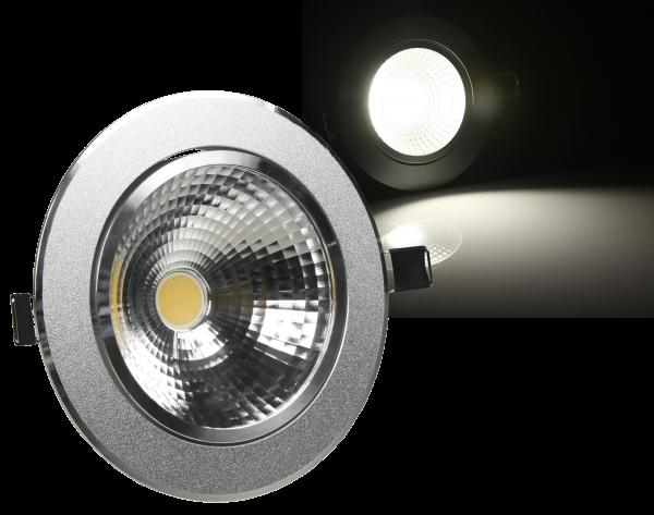 LED-Einbauleuchte McShine ''EL-7'', 7W COB, 530 lm, 110mm-Ø, warmweiß