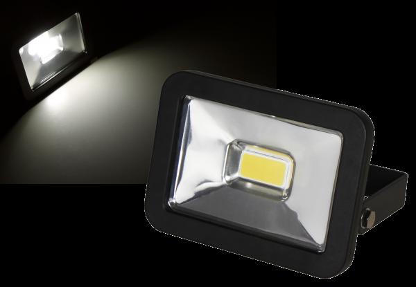 LED-Außenstrahler McShine ''Slim'' 10W, IP44, 750 lm, 3000K, warmweiß