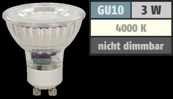 LED-Strahler McShine ''MCOB'' GU10, 3W, 250 lm, neutralweiß
