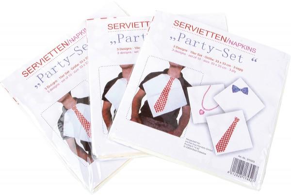 "Servietten ""Party"" 3-er Set"