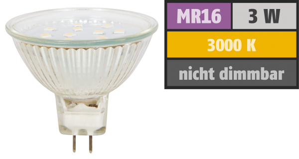 LED-Strahler McShine ''ET10'', MR16, 3W, 250 lm, warmweiß