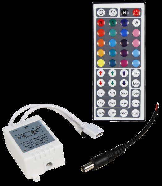 RGB-Controller McShine fŸür LED-Stripes inkl. Mega-Fernbedienung mit 44 Knöšpfen