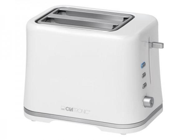 CLATRONIC TA 3554 Toaster Weiß/Silber (870 Watt, Schlitze: 2)
