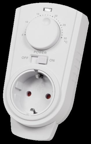 Steckdosen-Thermostat McPower ''TCU-330'' 5-30°C, max. 3500W, 230V