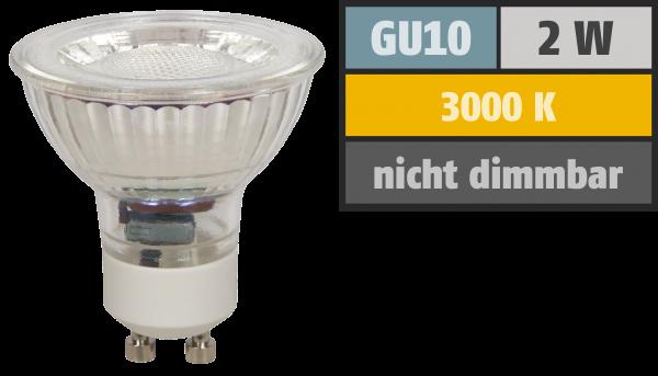 LED-Strahler McShine ''MCOB'' GU10, 2W, 100lm, warmweiß